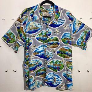 Vintage Hawaiian Shirt Sz XL Hawaii No Ka Oi